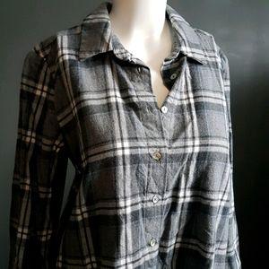 Zara flannel shirt dress